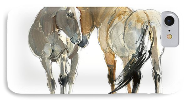 Rencontre Przewalski, 2013, Watercolour And Pigment On Paper IPhone Case