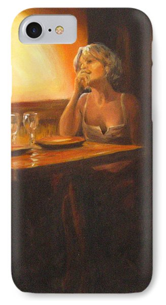 Rendevous At The Indian Restaurant IPhone Case by Connie Schaertl