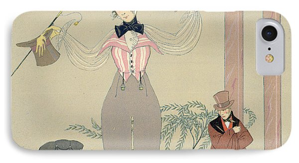 Rendez-vous  IPhone Case by Georges Barbier