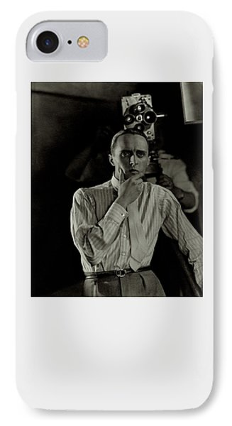 Rene Clair With A Camera IPhone Case by George Hoyningen-Huene