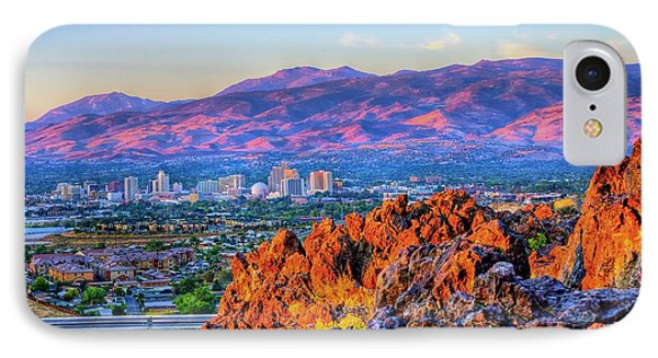 Reno Nevada Sunrise IPhone Case by Scott McGuire