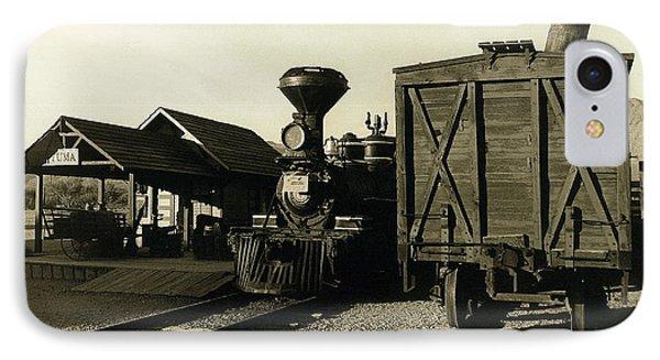 Reno Rr Station Old Tucson Arizona IPhone Case by David Lee Guss