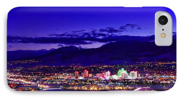 Reno Winter Cityscape IPhone Case by Scott McGuire