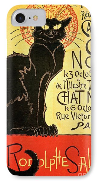 Cat iPhone 7 Case - Reopening Of The Chat Noir Cabaret by Theophile Alexandre Steinlen