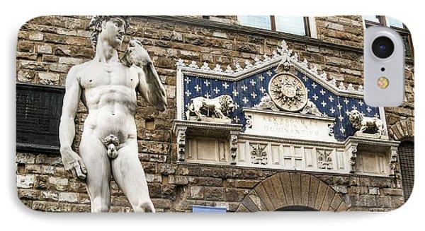 Replica Of Michelangelo's David IPhone Case by Brian Gadsby