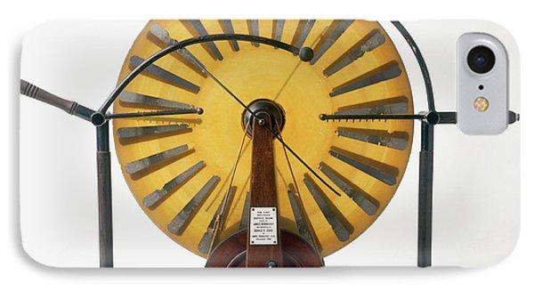 Replica Of Wimshurst Machine IPhone Case by Dorling Kindersley/uig