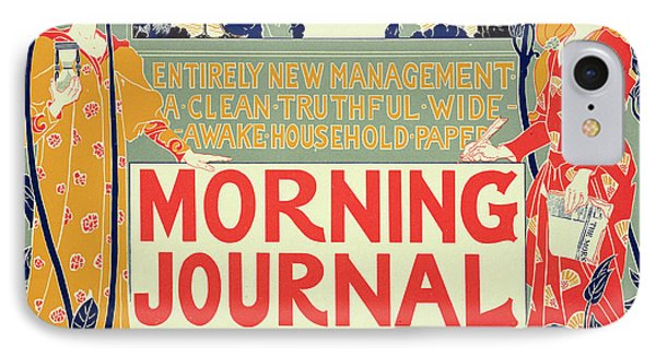 Reproduction Of A Poster Advertising The Morning Journal IPhone Case