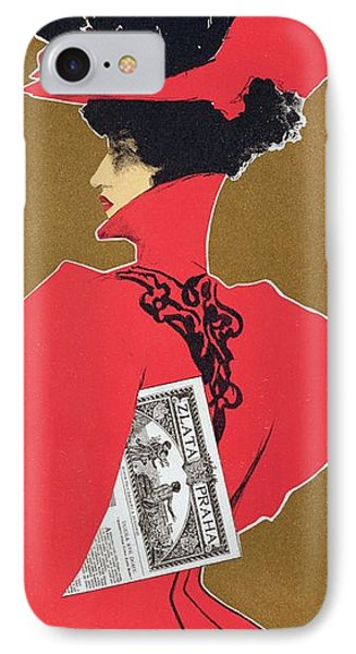 Reproduction Of A Poster Advertising 'zlata Praha' A Weekly Illustrated Newspaper Phone Case by Czech School