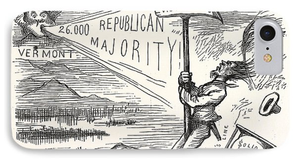 Republican Majority, Engraving 1880, Us, Usa IPhone Case by American School