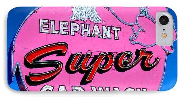 Elephant Super Car Wash Sign Seattle Washington IPhone Case