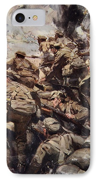 Repulsing A Frontal Attack With Rifle IPhone Case by Cyrus Cuneo
