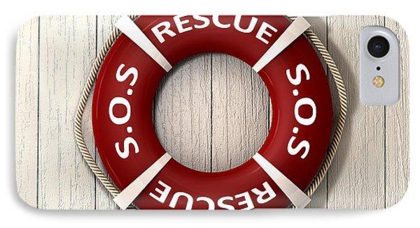 Rescue Lifebuoy Phone Case by Allan Swart