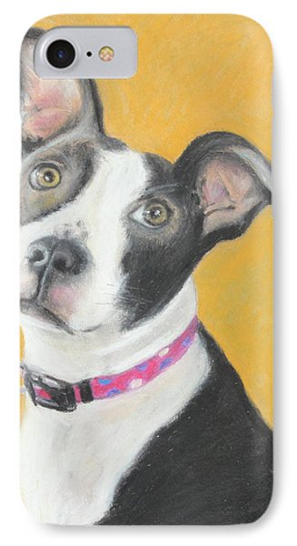 IPhone Case featuring the painting Rescued Pit Bull by Jeanne Fischer