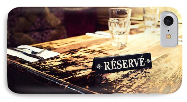 Reservations Required Phone Case by Tanya Harrison