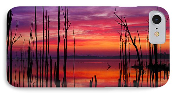 Reservoir At Sunrise IPhone Case by Roger Becker