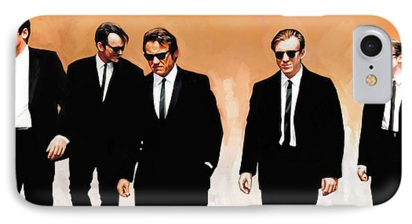 IPhone Case featuring the painting Reservoir Dogs Movie Artwork 1 by Sheraz A
