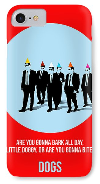 Reservoir Dogs Poster 1 IPhone Case by Naxart Studio