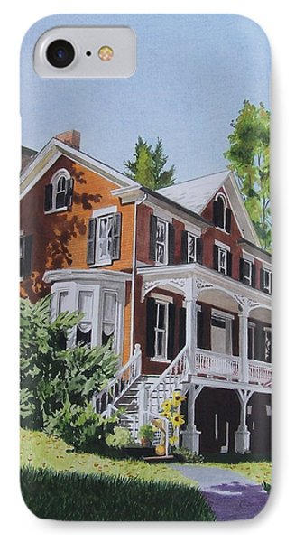 IPhone Case featuring the mixed media Residence In Sussex County by Constance Drescher