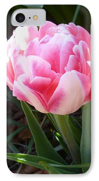 Resplendent Cherry Pink Tulip Phone Case by Lingfai Leung