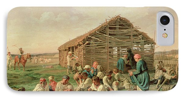 Rest During Haying IPhone Case by Aleksandr Ivanovich Morozov