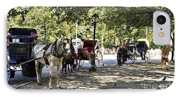 Rest Stop - Central Park IPhone Case by Madeline Ellis