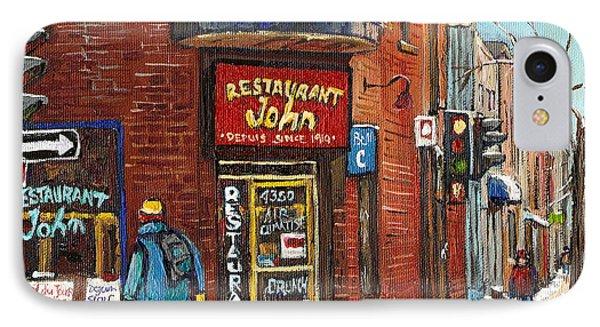 Restaurant John IPhone Case by Carole Spandau