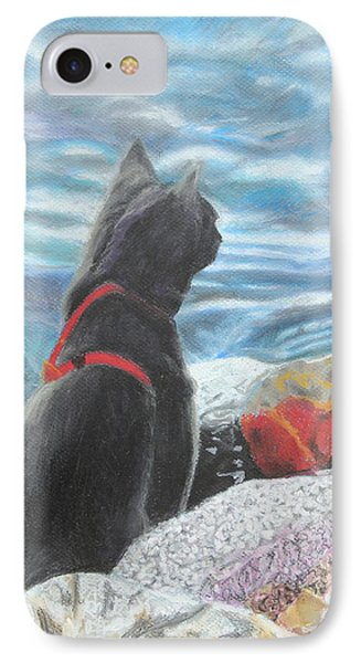IPhone Case featuring the painting Resting By The Shore by Jeanne Fischer