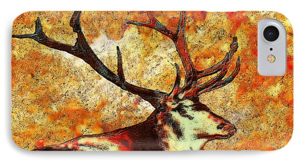 Resting Elk Phone Case by Jack Zulli