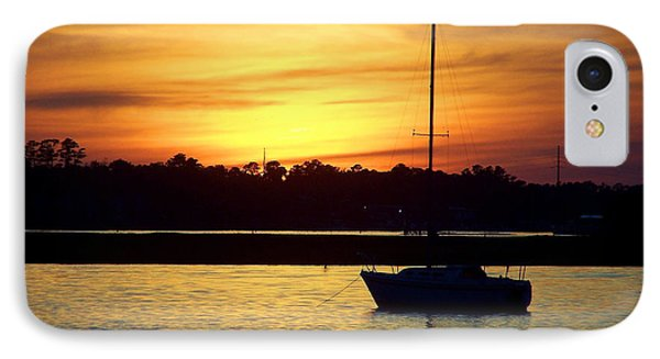 IPhone Case featuring the photograph Resting In A Mango Sunset by Sandi OReilly