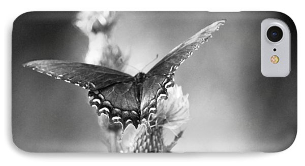 IPhone Case featuring the photograph Resting In Black And White by Linda Segerson