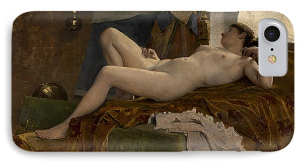 Resting Model IPhone Case by Auguste Durst