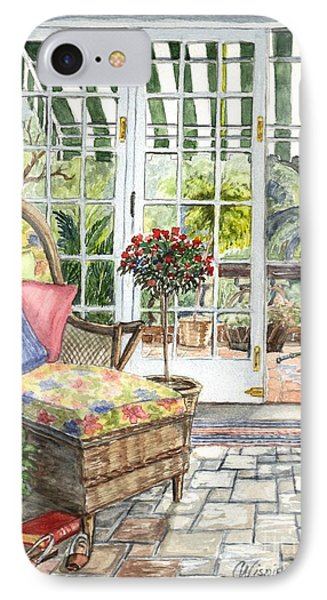 Resting On The Lanai Part 1 Phone Case by Carol Wisniewski