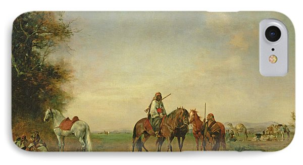Resting Place Of The Arab Horsemen On The Plain, 1870 IPhone Case