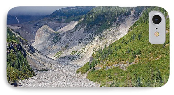 Restless Glaciers At Mount Rainier National Park IPhone Case by Connie Fox