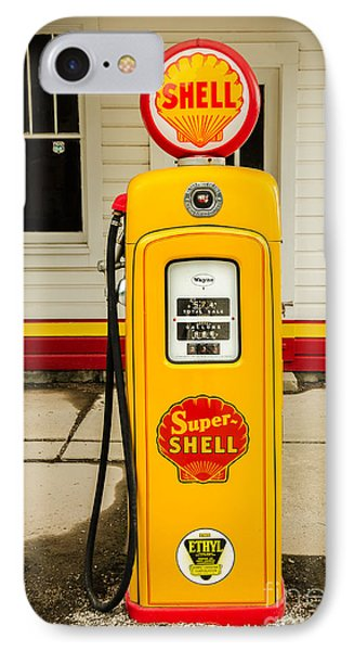Restored Shell Pump On Route 66 IPhone Case