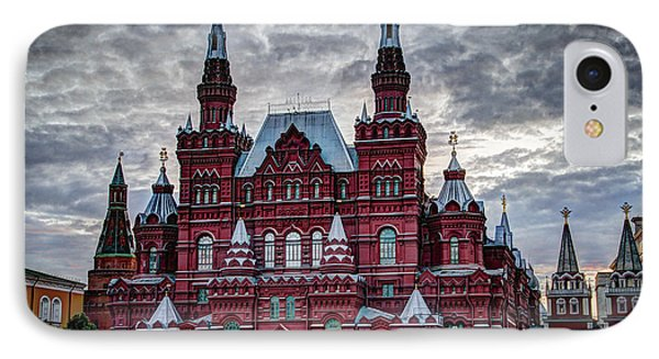 Resurrection Gate And Iberian Chapel - Red Square - Moscow Russia IPhone Case by Jon Berghoff