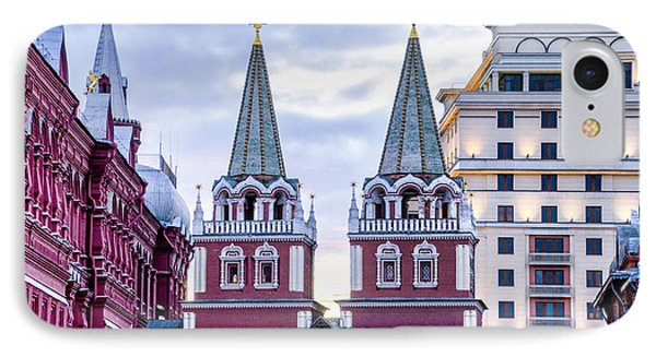Resurrection Gate - Red Square - Moscow Russia IPhone Case by Jon Berghoff