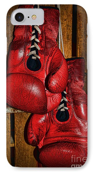 Retired Boxing Gloves Phone Case by Paul Ward