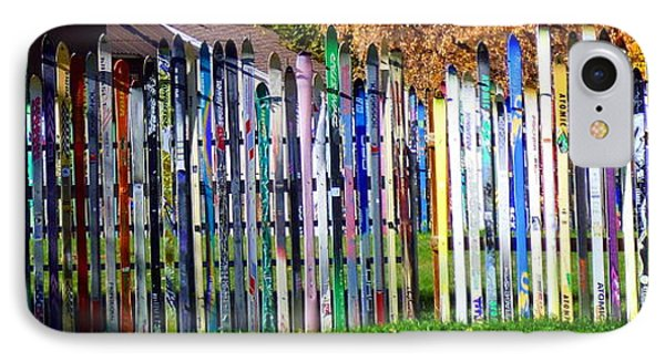 IPhone Case featuring the photograph Retired Skis  by Jackie Carpenter