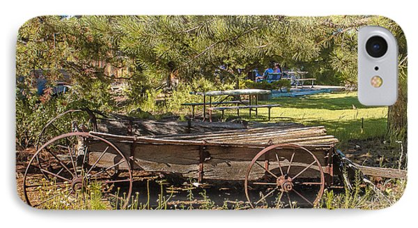 Retired Wagon At Thousand Trails IPhone Case by Bob and Nadine Johnston