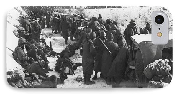 Retreat From Chosin Reservoir IPhone Case by Underwood Archives