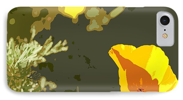 Retro Abstract Poppies 4 Phone Case by Artist and Photographer Laura Wrede