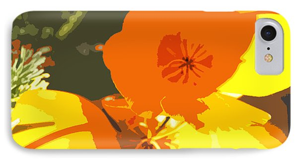 Retro Abstract Poppies Phone Case by Artist and Photographer Laura Wrede