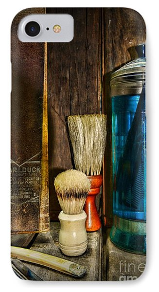 Retro Barber Tools IPhone Case by Paul Ward
