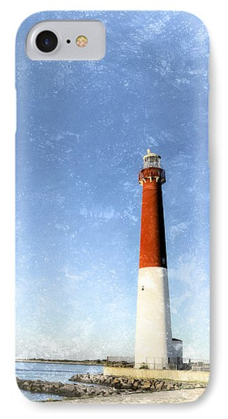 Retro Barnegat Lighthouse Barnegat Light New Jersey IPhone Case by Marianne Campolongo