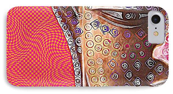 Retro Buddha IPhone Case by Julie  Hoyle