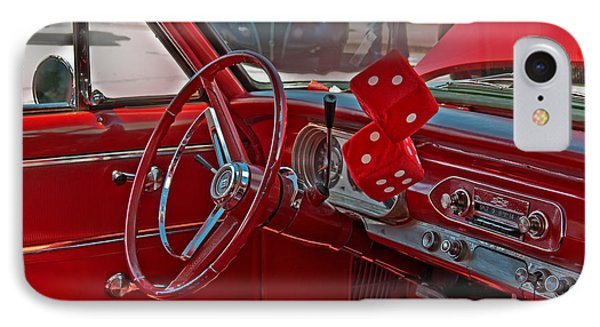 IPhone Case featuring the photograph Retro Chevy Car Interior Art Prints by Valerie Garner