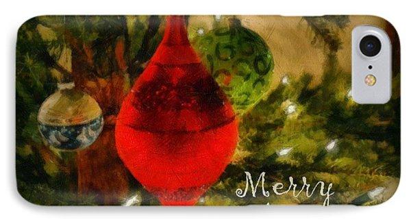 Retro Christmas Phone Case by Michelle Calkins