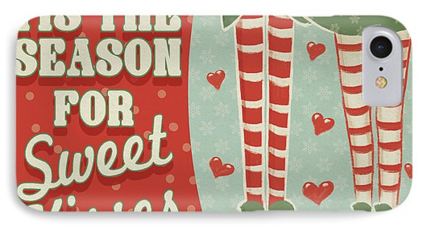 Retro Christmas Viii IPhone Case by Janelle Penner