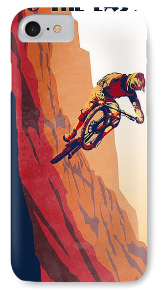 Retro Cycling Fine Art Poster Good To The Last Drop IPhone Case by Sassan Filsoof
